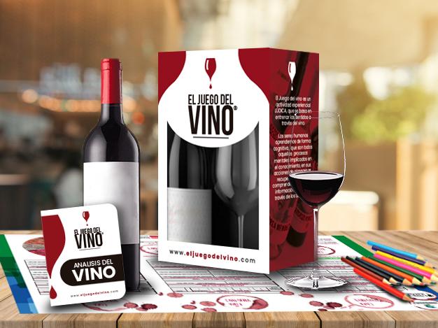 Caja juego del vino